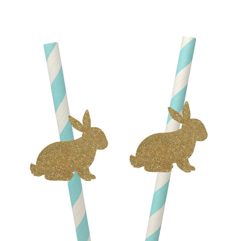 Bunny Straws, 10 Pieces, Some Bunny Is One Birthday, Easter  Party Idea For Boys Or Girls