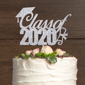Class of 2020 Cake Topper with Scroll Graduation Party Decor