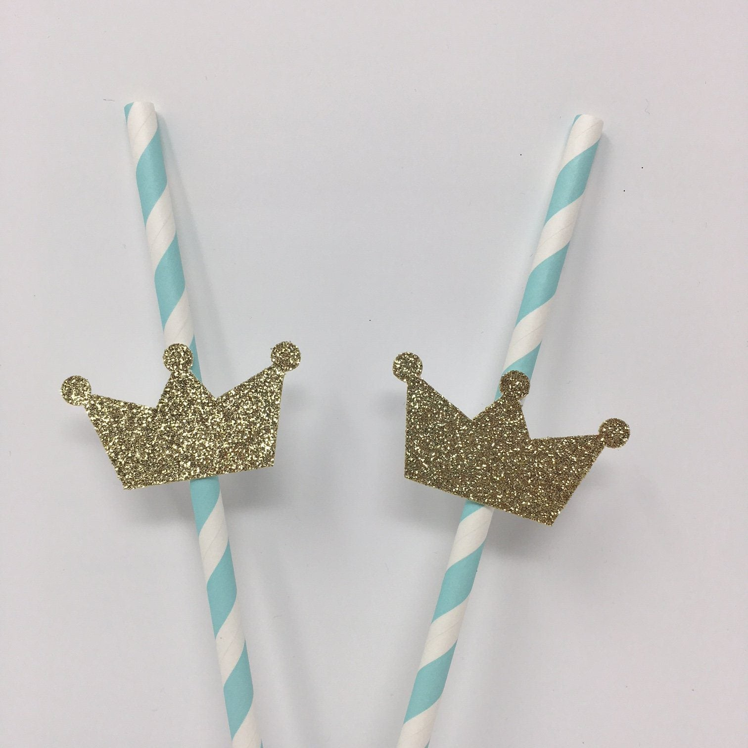 Crown Straws. 10 Pieces