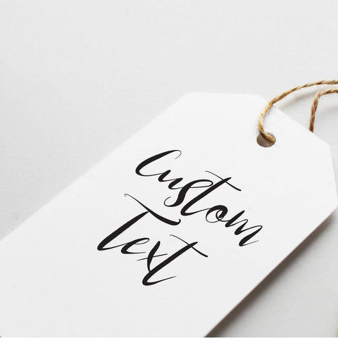 Custom gift tag with any text. Printed gift tag for any occasions