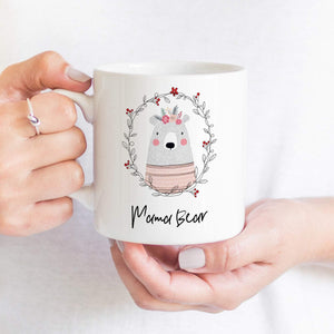 Cute Mama bear mug, Gift for mom for Christmas, New mother gift