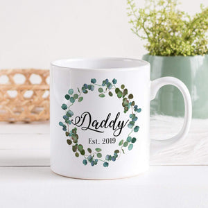 Daddy mug, Christmas gift for dad, New Dad Xmas gift, Floral mug