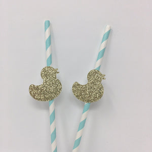 Duck Gold Straws. 10 Pieces.