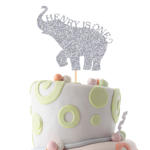 Elephant Themed Kids Birthday Cake Topper, Suitable For All Ages, First Birthday Decoration