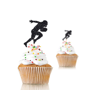 Football Cupcake Toppers, Football Birthday Decor, 12 Pieces