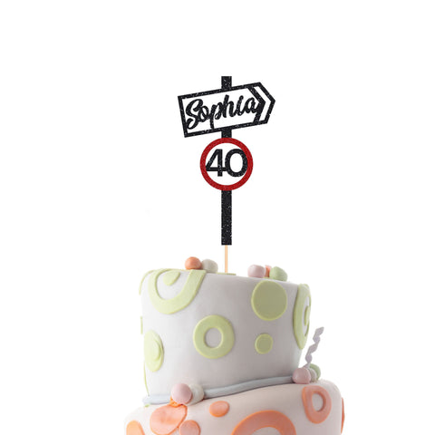 Funny Personalised Name And Age Birthday Cake Topper Suitable For All Ages