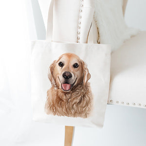 Golden Retriever Tote Bag, Dog Lover Birthday Gift, Gift For Her