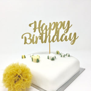 Happy Birthday Cake Topper. Birthday Party Decorations
