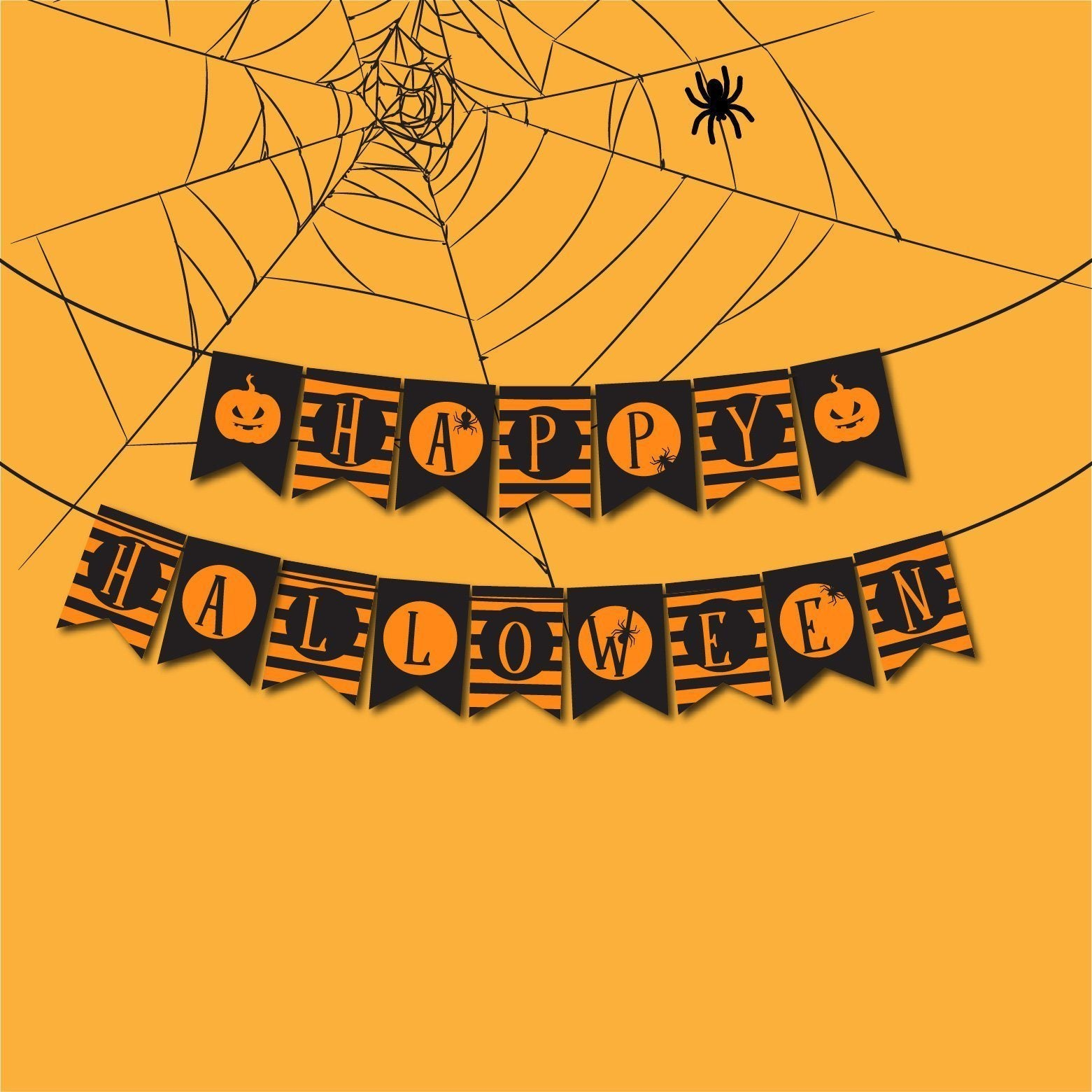 Happy Halloween Banner, Garland Halloween Party Decor