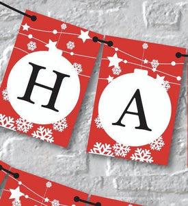 Happy New Year Banner. Christmas Bunting.