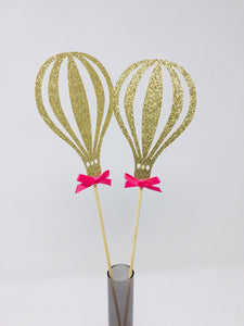 Hot Air Ballon Centerpiece with the bow. SET OF 2