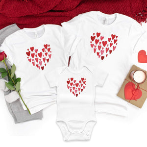 Love hearts matching Family Shirts, Valentine's days T shirt, First Valentine,Gift matching shirts