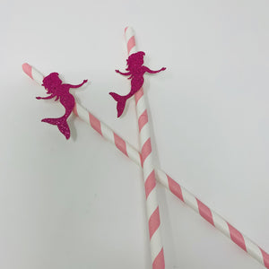 Mermaid Straws. 10 Pieces, Under The Sea Party Ideas