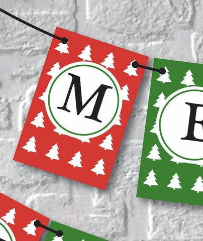 Merry Christmas Banner. Holiday Festive Decoration