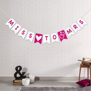 Miss to Mrs, Hen Party Banner