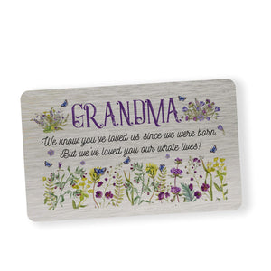 Mother's Day gift for nanny. Wallet Card for grandma, granny, nana, nanna, grandmother.