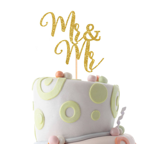 Mr and Mr gay cake topper, Same sex cake topper