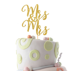 Mrs and Mrs lesbian cake topper, Same sex cake topper