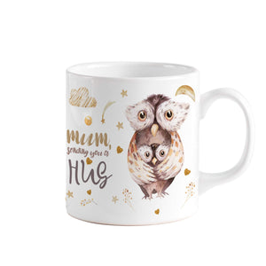 Mum sending you a hug mug, Cute Mother's Day Gift, Mother and baby, Mother Birthday Gift