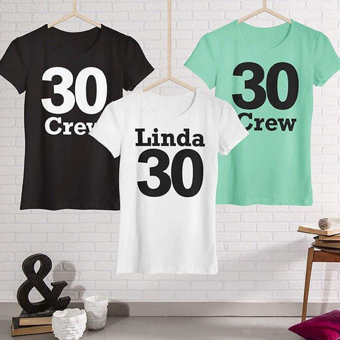 Name And Age Birthday Girl And Crew T-Shirt