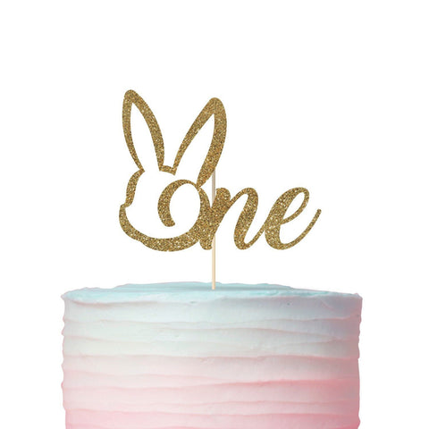 One Cake Topper With Bunny Ears, Suitable For All Ages, Easter Birthday Cake Topper
