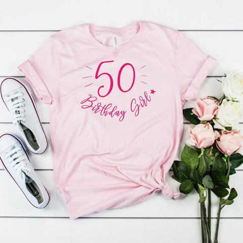Party birthday girl t-shirt, UNISEX sizes, Suitable for All Ages