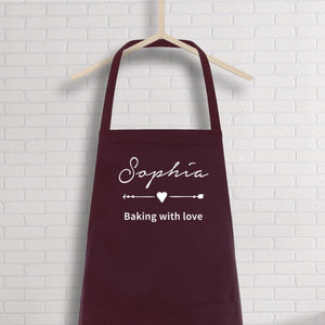 Personalised apron with name, Name kitchen apron for women