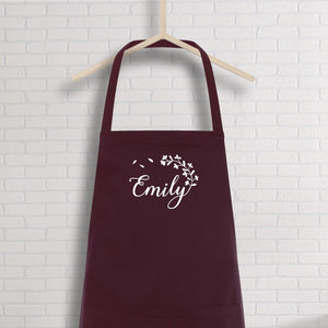 Personalised Apron With Name, Name Kitchen Apron For Women, Bakers Gift