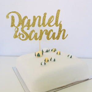 Personalised Couple Names Cake Topper