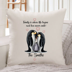 Personalised Cushion Cover, Gift for family, Family is Where life begins and love never ends