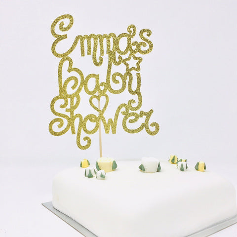Personalised Cute Baby Shower Cake Topper