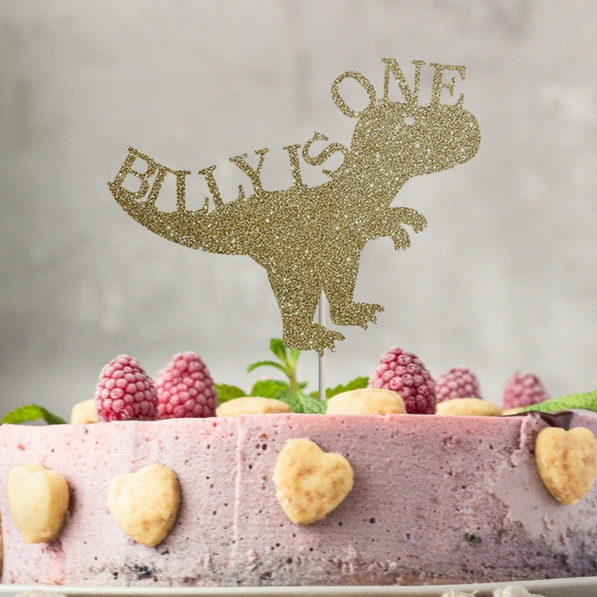 Excellent Personalised First Birthday Cake Topper Dinosaur Theme Pomchick Personalised Birthday Cards Paralily Jamesorg