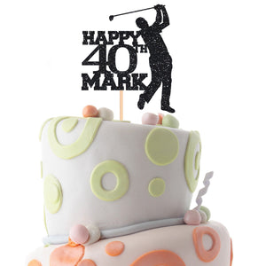 Personalised golf birthday cake topper with name and age, Golf themed