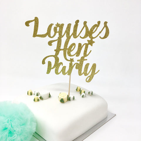 Personalised Hen Party Cake Topper with a Name