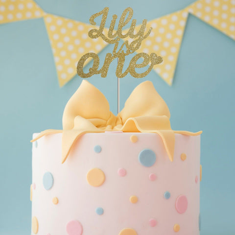 Personalised kids cake topper. First birthday. Girl or boy 1st birthday decor