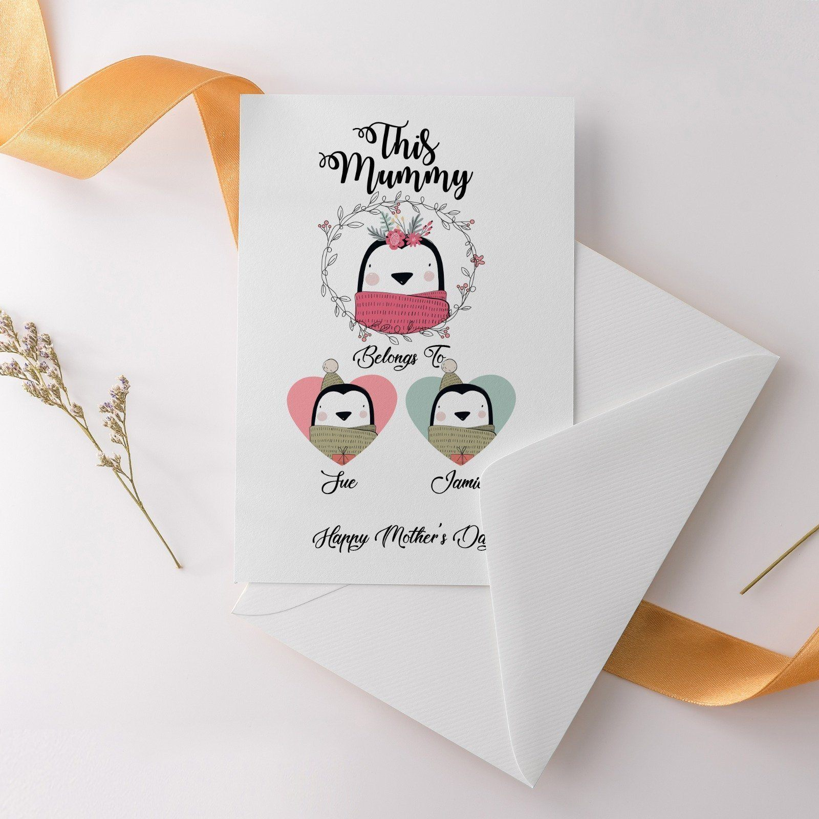 Personalised Mother's Day Greeting Card, Mum birthday