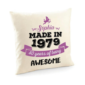 Personalised Special Birthday Cushion Cover, Suitable for All Ages
