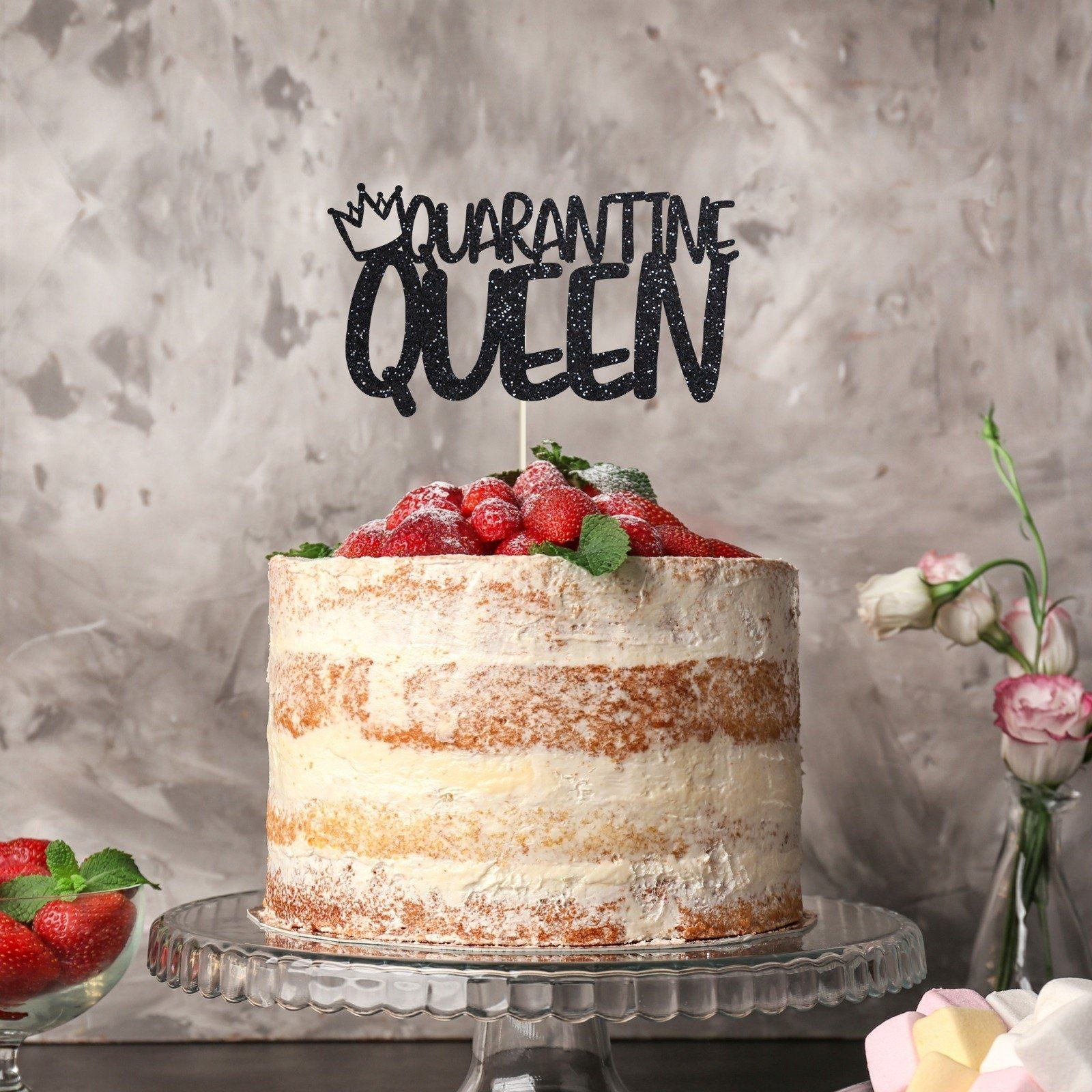 Marvelous Quarantine Queen Birthday Cake Topper Women Birthday Social Funny Birthday Cards Online Fluifree Goldxyz