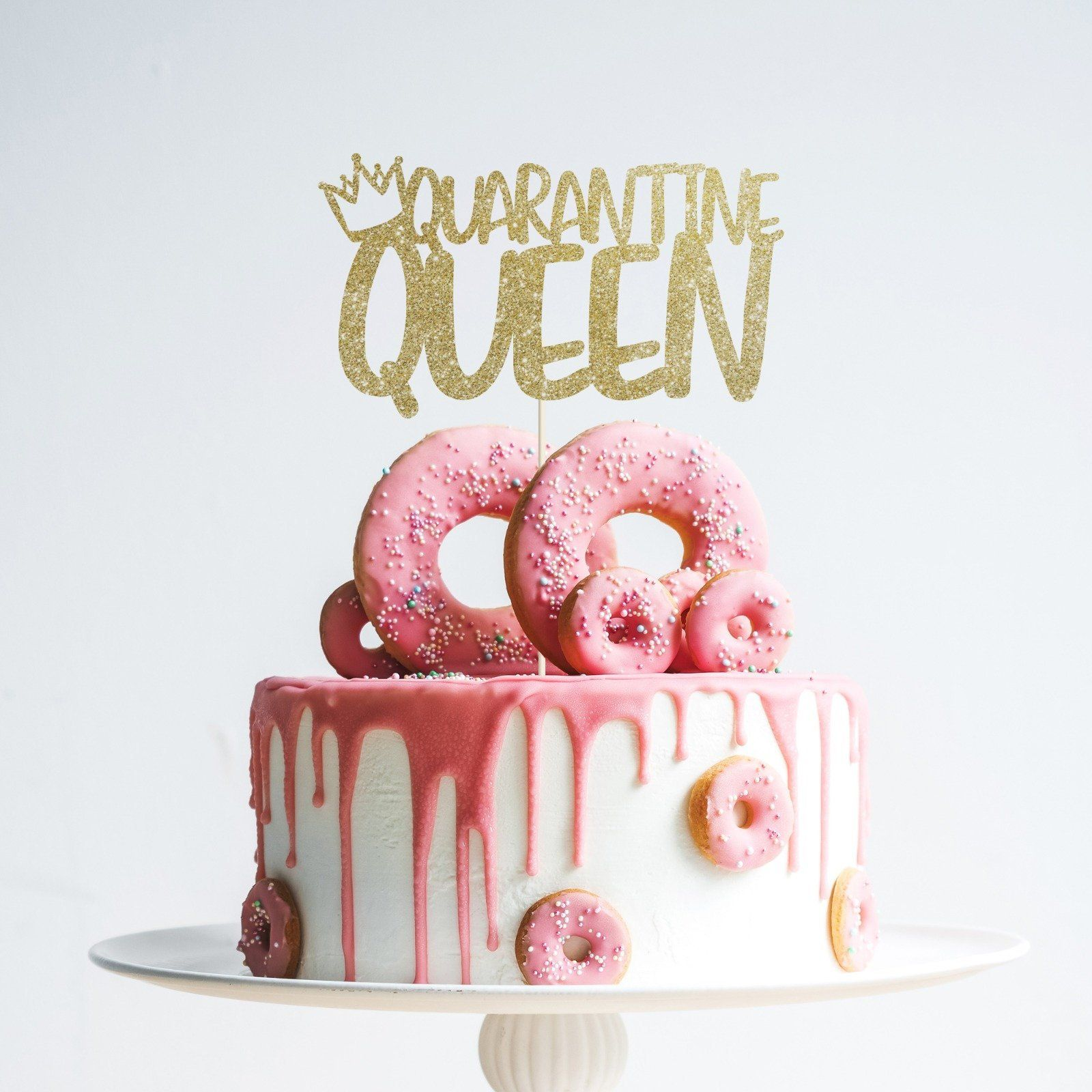 Wondrous Quarantine Queen Birthday Cake Topper Women Birthday Social Funny Birthday Cards Online Elaedamsfinfo