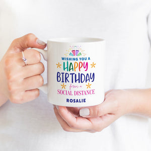 Social distance mug, Send directly to the recipient!, Kindness, Self-isolation gift