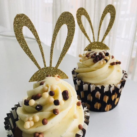 Some Bunny Is One Cupcake Toppers. Easter Party Decorations