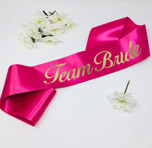 Team Bride Sash | Bachelorette Party | Bridal Sash