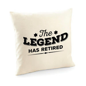 The Legend Has Retired Cushion Cover, Retirement Gift For Him Or Her, Leaving Job Gift