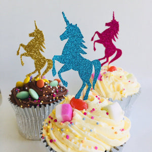 Unicorn Cupcake Topper. 12 Pieces. Unicorn Party Decor.
