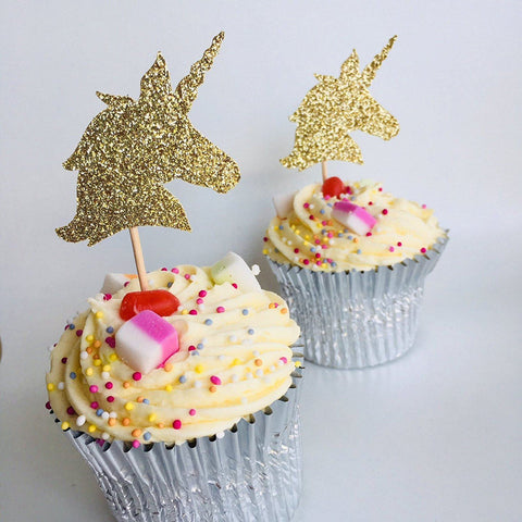 Unicorn Cupcake Topper, Party Decoration