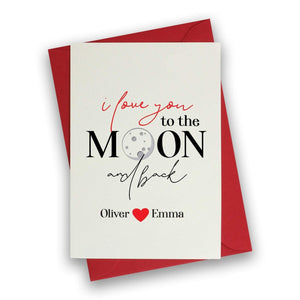 Valentines Card, Personalised Valentine's Day card with names, For her or him