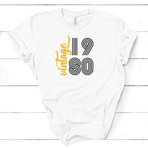 Vintage Birthday T-Shirt For Men or For Women, UNISEX Birthday Party Shirt For All Ages, Vintage 1960 T-Shirt