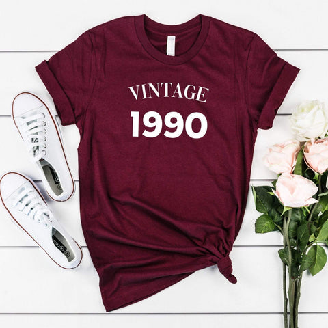 Vintage t-shirt, Birthday t-shirt for him or her, UNISEX, Suitable for all years