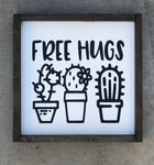 Free Hugs wood sign