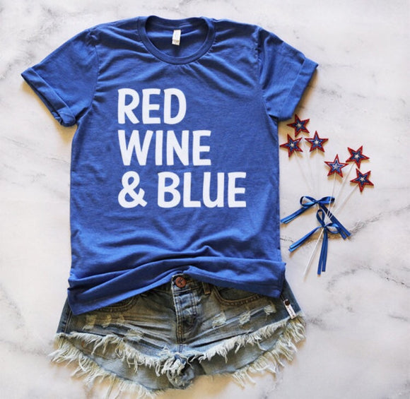 Red Wine & Blue Tee ADULT SIZE